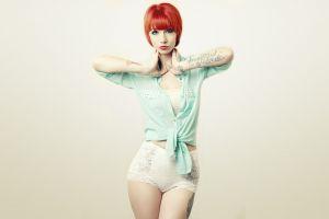 model women redhead tattoo