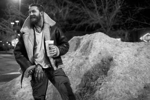 monochrome beards tom hardy smiling actor men