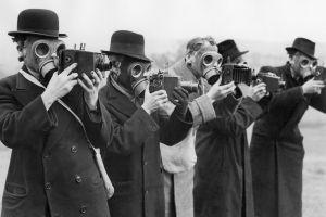 monochrome camera gas masks