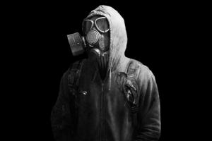 monochrome gas masks simple background hoods