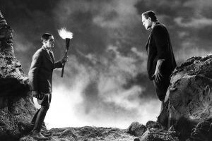 monochrome monster of frankenstein movies gothic