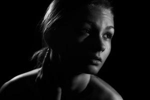 monochrome portrait model women