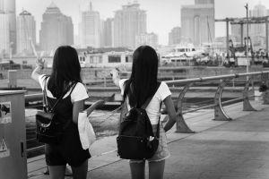 monochrome women asia
