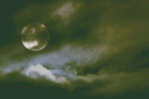 moon sky night dark