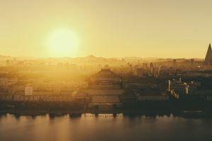 morning pyongyang cityscape north korea