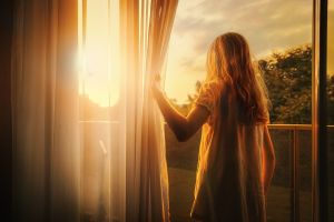 morning sun curtains children