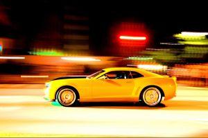 motion blur car chevrolet camaro ss