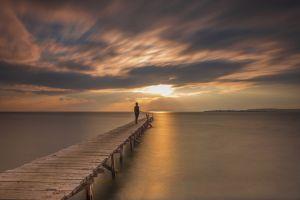 motion blur pier lake long exposure landscape