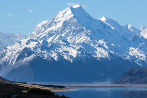 mount cook mountains lake landscape new zealand snowy mountain
