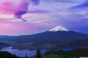 mount fuji landscape japan mountains japan snowy peak
