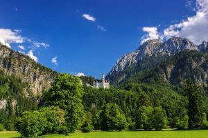 mountains castle nature landscape neuschwanstein castle