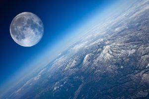 mountains earth moon planet