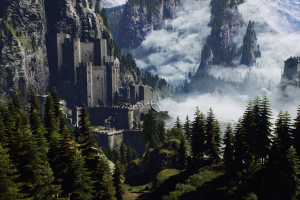 mountains geralt of rivia the witcher geralt of rivia landscape the witcher 3: wild hunt