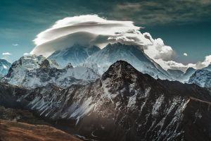 mountains landscape clouds