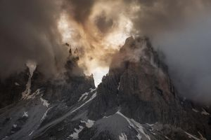 mountains nature italy sunlight dolomites (mountains) landscape clouds summit spring