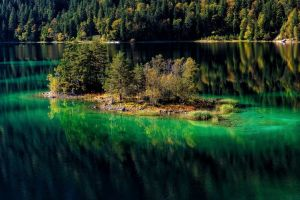 mountains nature landscape lake