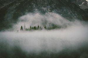 mountains nature mist