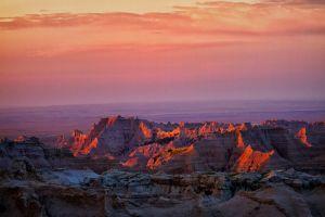 mountains purple sky utah badlands national park landscape