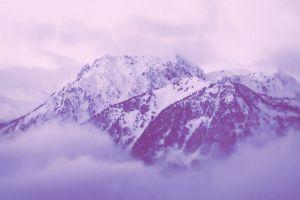 mountains snow nature landscape