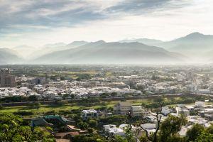 mountains taiwan city