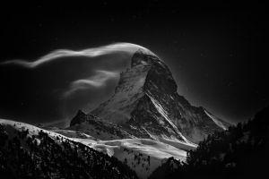 mountains wind landscape nature
