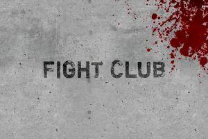 movies grunge typography blood fight club