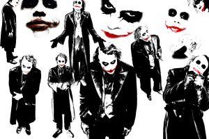 movies joker heath ledger batman face