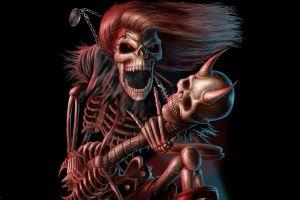 music artwork fantasy art skull