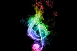 musical notes colorful music digital art