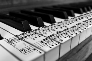musical notes musical instrument classical piano monochrome