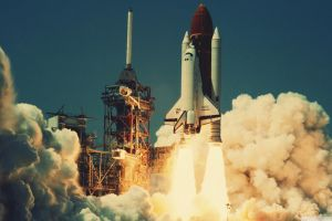 nasa lift off space shuttle