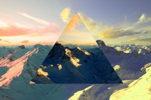 nature abstract polyscape mountains