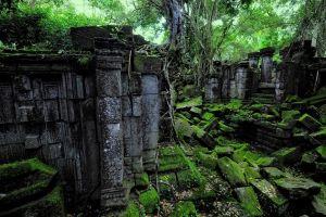 nature ancient angkor wat landscape ruins