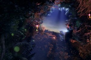 nature artwork women glowing eyes fantasy art