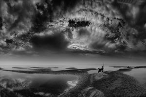 nature bangladesh landscape water boat river monochrome clouds