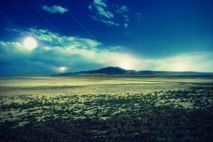 nature blue landscape sky