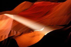 nature canyon cave sunlight