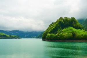 nature clouds island