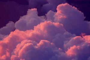 nature clouds purple