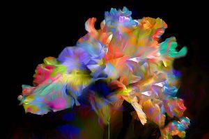 nature digital art abstract plants
