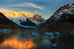 nature ice mountains landscape lake snow argentina glaciers frost