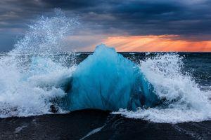 nature ice sea iceland