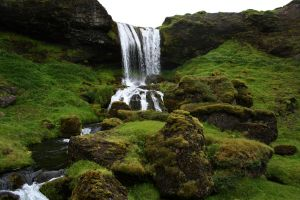 nature iceland waterfall