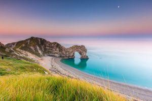 nature landscape jurassic coast beach sea durdle door