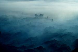 nature landscape mountains mist morning