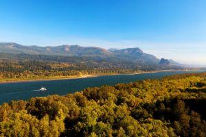 nature landscape mountains river oregon