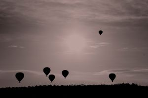 nature landscape sky monochrome balloon flying