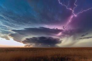 nature lightning plains storm overcast south dakota clouds landscape
