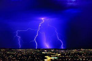 nature lightning storm landscape
