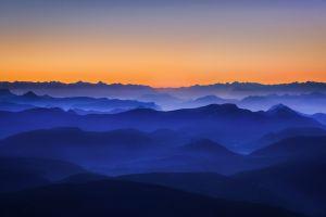 nature mountains landscape mist